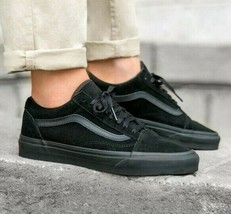 VANS Old Skool Triple Black Classic Skate Womens Sneakers - $64.95