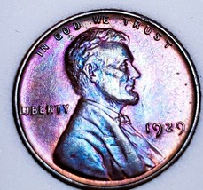 1929 - UNC++ RB Lincoln Wheat Cent*  BEAUTIFULLY TONED *. C21 - $44.10