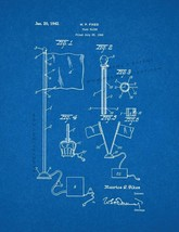 Flag Flier Patent Print - Blueprint - $7.95+