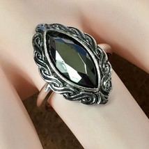 "Vintage 1977 Avon ""SHADOWPLAY"" Faceted Hematite Ring Medium (Size 6-7) -... - $23.33"