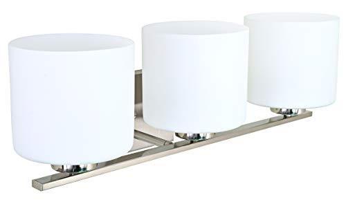 Brushed Nickel 2 Globe Vanity Bath Light Bar Interior: Sunnyfair 3 Globe Vanity Bath Light Bar Interior Lighting