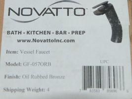 Novatto Bath Kitchen Bar Prep Vessel Faucet Oil Rubbed Bronze image 6