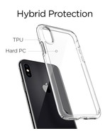 iPhone X case, Crystal Clear Cover, Case Shock Absorption Case with Bumper - $6.88