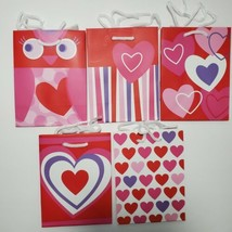 Hallmark Inspirations Small Gift Bags Hearts Owl Valentines Day-LOT OF 2... - $9.85
