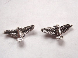 Eagle Spread Wings Stud Earrings 925 Sterling Silver Corona Sun Jewelry - $3.47