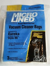 Eureka Style RR Micro Lined Anti-Bacterial Vacuum Cleaner Bags pack of 3... - $8.99