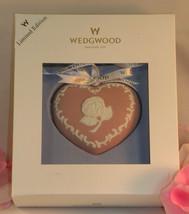 New Wedgwood Pink White Jasperware Breast Cancer Heart Christmas Ornamen... - $29.99