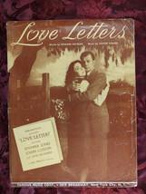 RARE Sheet Music LOVE LETTERS Ayn Rand movie Jennifer Jones Joseph Cotton - $20.00