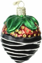 Old World Christmas Chocolate Dipped Strawberry Glass Christmas Ornament 28116 - $12.88