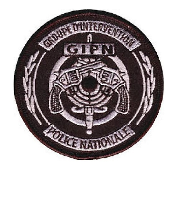 Ance police nationale gipn droupe d intervention french national police swat 4.25 x 4.25 in 9.99