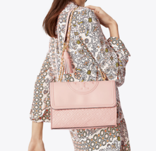 Tory Burch Fleming Convertible Chain Large Shoulder Bag - Shell Pink - $385.00