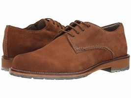 New Clarks Men's Arton Walk Suede Leather Oxford Shoes Tobacco Size 12 Msrp $150 - $105.62