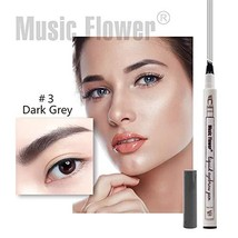 Tattoo Eyebrow Pen Music Flower 4 Tips Waterproof Microblading Pen Fine ... - $6.96