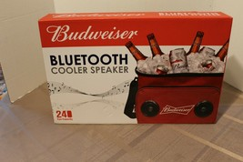 Budweiser Soft Cooler Bag with Built in Bluetooth Speakers - Red - £19.72 GBP
