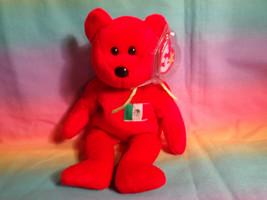 "1999 Ty Beanie Baby Osito Red Mexican Bean Bag Plush Bear w/ Hang Tag 8"" - $2.92"