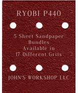 RYOBI P440 Cordless - 1/4 Sheet - 17 Grits - No-Slip - 5 Sandpaper Bulk ... - $7.14