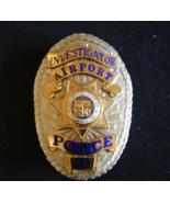Los Angeles Police, Airport Police Badge, Rare Investigator Police Badge... - $398.54