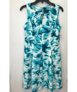Gabby Skye Womens ivory blue Dress Size 10 NWT - $45.31