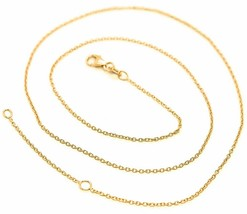 Mini Gold Chain Yellow 750 18K,40 45 or 50 cm,Jersey Rolo ' ,Rim Diamete... - $233.92+