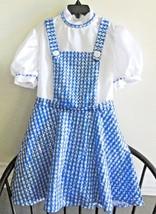 Rubie's Sz 10 Dorothy Dress Wizard of Oz Sparkles W/ Sequins Blue & Whit... - $291,50 MXN