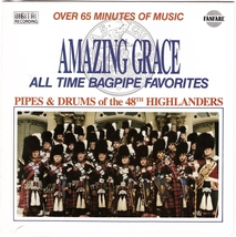 Pipes And Drums Of The 48th Highlanders CD Amazing Grace Bagpipe Favorites  - $1.99