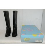 Soda HIROS Black Zip Up Riding Boot Gold Colored Accents Size 6 And Half - $38.00