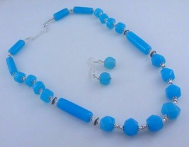 Chalcedony Beaded Handmade Necklace Jewelry 98 Gr. M-S-2-18 - $6.25