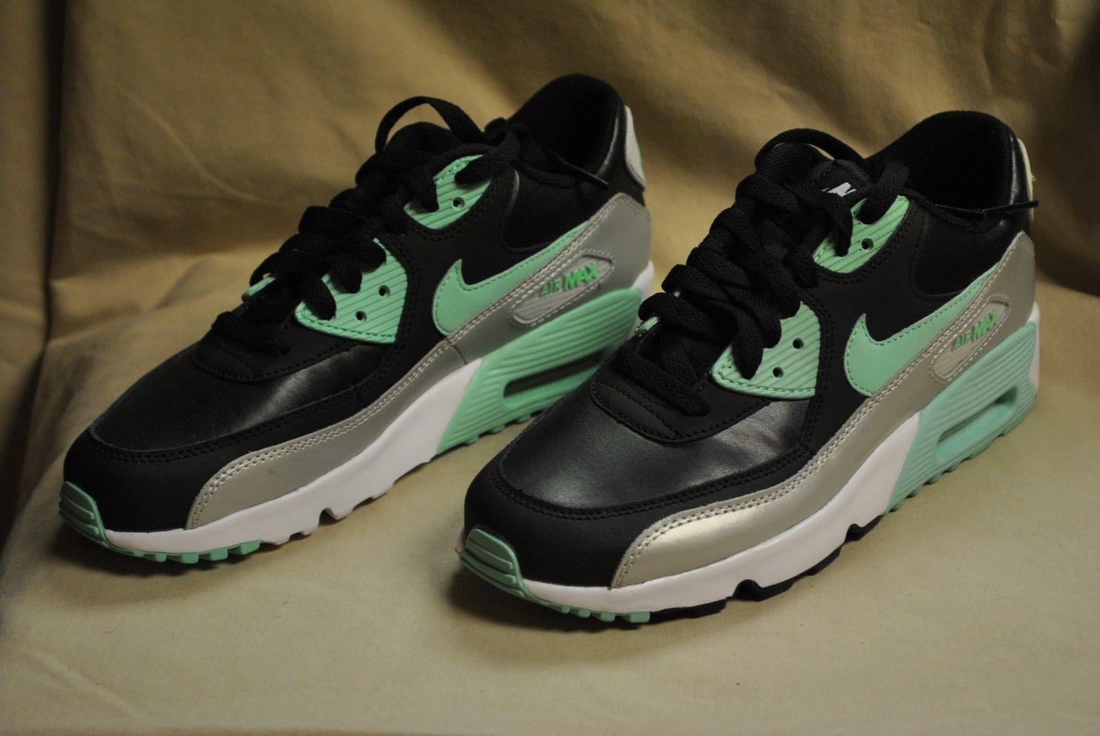 new arrivals 1da63 03ed0 Nike AIR MAX 90 LTR (GS)~ Black Grn-Pltnm~ and 25 similar items