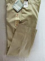 Dickies Women's work pants twill Sz 18 Reg khaki relaxed fit stretch fla... - $18.57