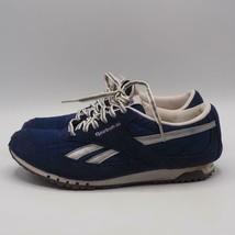 Reebok Mujer ante Azul Sneakers Size 8 Eu - $44.53