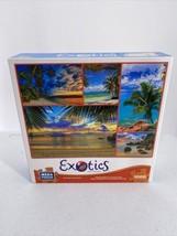 Mega Puzzles Exotics Puzzle Series Palm Trees Ocean Tropical Sunsets 100... - $10.39