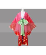 Customize One Piece Kozuki Hiyori Kimono Cosplay Costume - $140.00