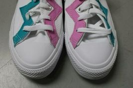 NIB NEW Men 8.5 Converse Shoe Sneaker White Rapid Teal Peony Pink Box CTAS OX image 3