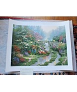 Stillwater Bridge by Thomas Kinkade SN Limited Edition 18 X 24  - $292.05