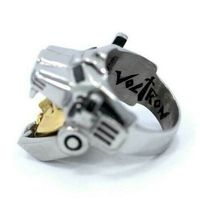 Han Cholo Silver & Gold Plated Surgical Stainless Steel Voltron Ring NEW image 4