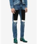 Mens Calvin Klein Jeans Slim Fit Colorblock Blue White Black Italian Den... - $54.40