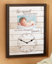 The Moment You Were Born Frame Baby Keepsake Photo Frame Indoor Nursery ... - $29.95