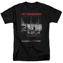 Stephen Kings Pet Sematary retro 80's horror movie black t-shirt PAR537 image 1