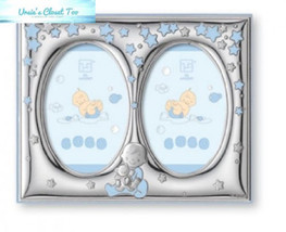 "Silver Touch USA Finest Sterling Double Picture Frame, Blue, 5"" X 7"" - $106.70"