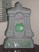 Halloween Beware Light Up Tombstone - Lights/Sound - $26.48 CAD