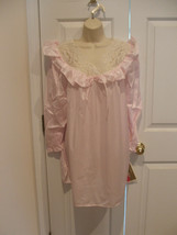 New With Tag Cozy Plus Pink Lace Sleepshirt  made in USA Medium - $14.10