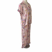 Nordstrom Lingerie Sleepwear Pajamas Size Medium Pink Floral Rayon Short... - $29.69