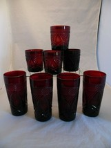 Cristal D'Arques Duran Lot of 8 Ruby Glasses (4) Old Fashion (4) Drinkin... - $58.50