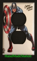 Captain America Light Switch Power Outlet Wall Cover Plate Home decor image 2