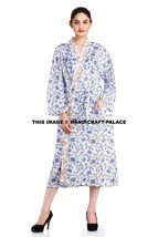 Cotton Womens Block Print Indian Bath Robe Dressing Gown Wrap Housecoat ... - ₨2,088.24 INR