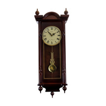 Bedford Clock Collection Grand 31 Inch Chiming Pendulum Wall Clock in Antique Ma - $182.33