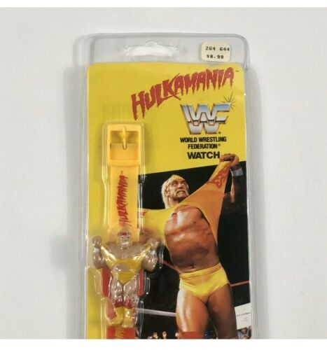 Primary image for Vintage Hulk Hogan Watch 1991 Hulkamania WWF by Nelsonic TitanSports NOS