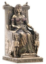 "9.25"" Egyptian Queen Sitting on Throne Statue Sculpture Egypt Figure - $67.50"