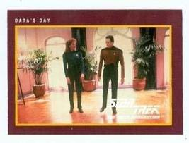 Star Trek The Next Generation card #248 Data s Day Brent Spiner and Dr Beverly C - $3.00