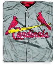 MLB St. Louis Cardinals Jersey Raschel Throw Blanket Plush NEW Micro - $46.48